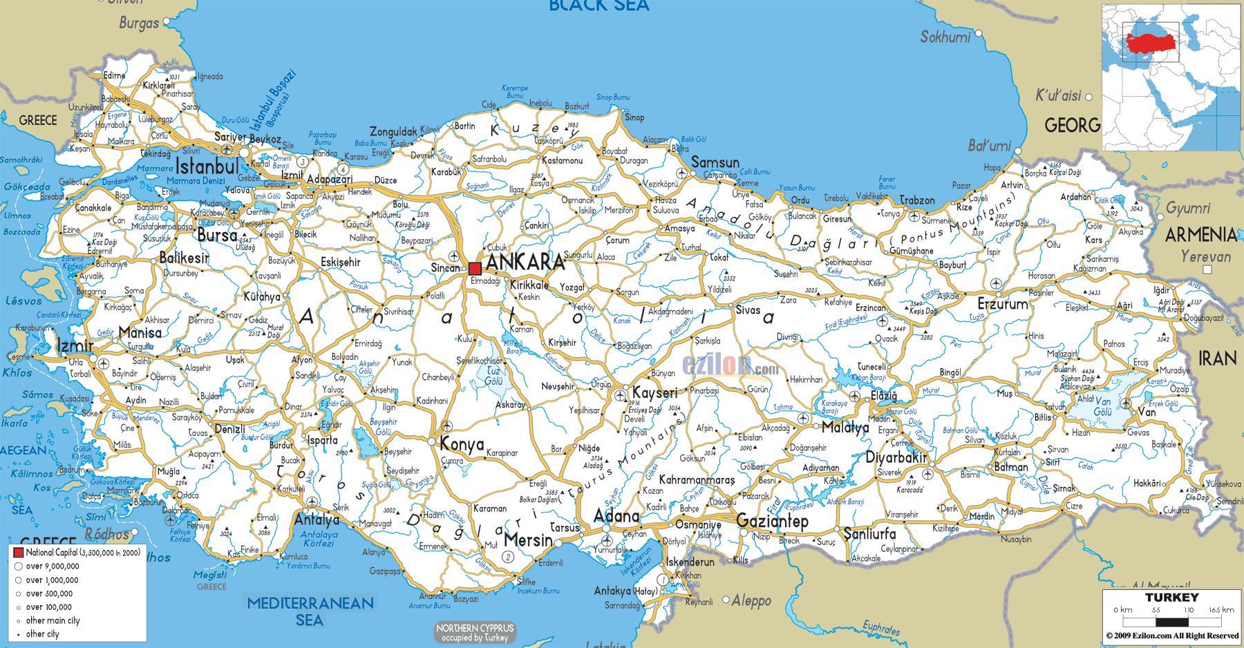 Turkki Kartta
