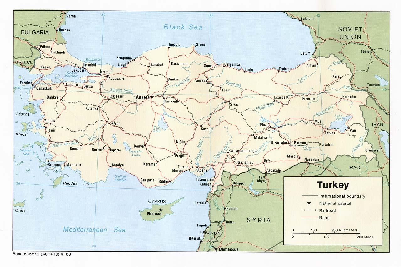 Kartat Turkki Nayta Kartta Turkki Lansi Aasia Aasia