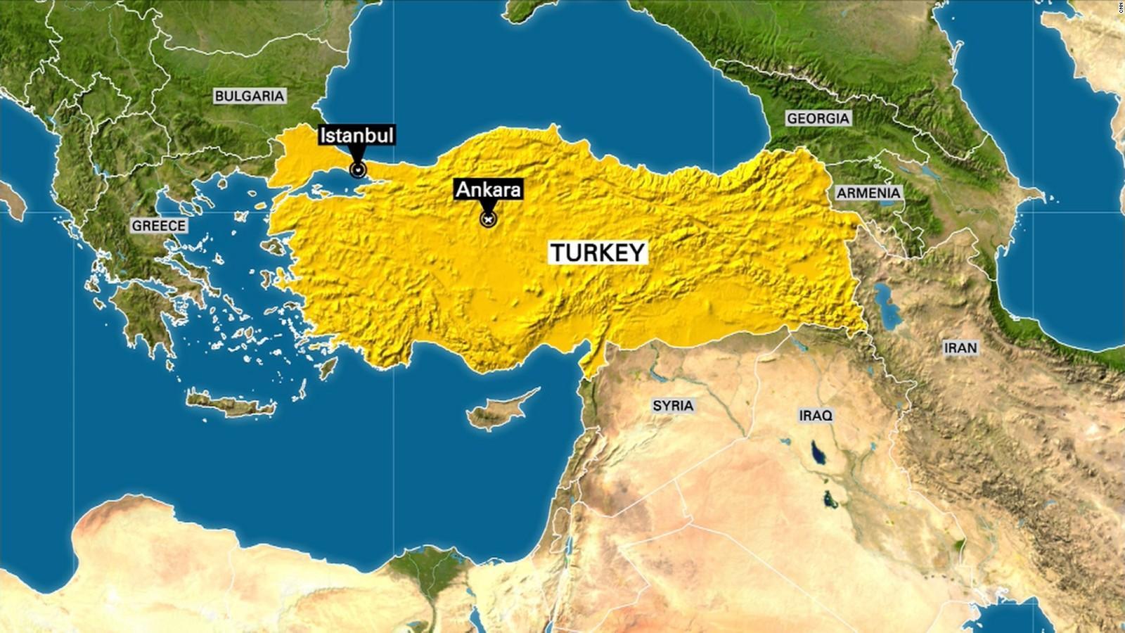 Turkki Kartta Kuvia Kartta Turkin Kuvia Lansi Aasia Aasia