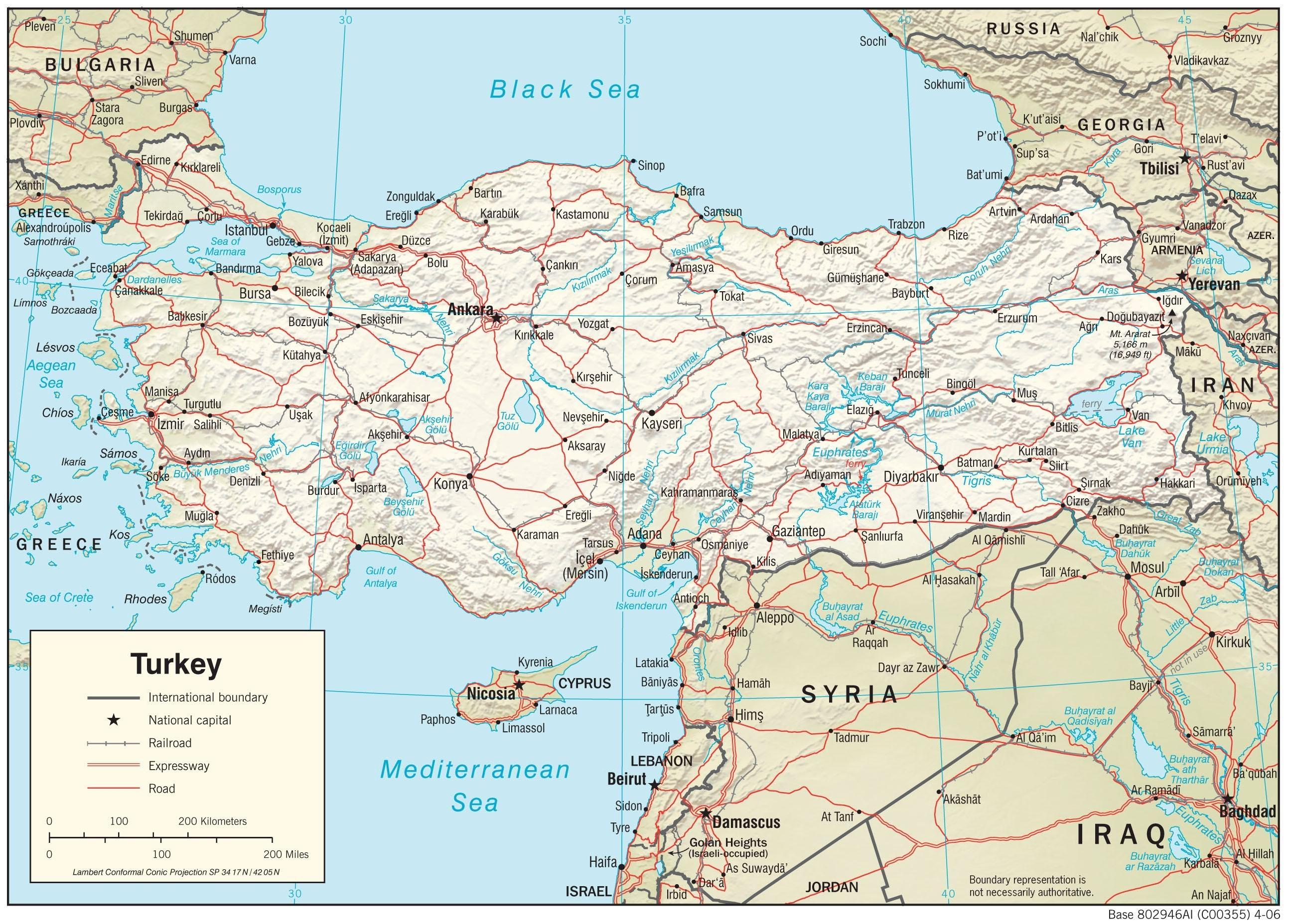 Turkki Puutarha Kartta Kartta Turkin Puutarha Lansi Aasia Aasia